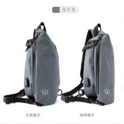 JT8019-gray Sling Bag Pria Modis Import Terbaru