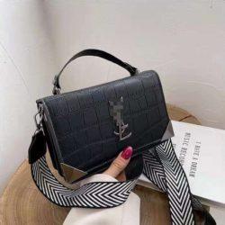 JT80290-black Tas Handbag Selempang Import Wanita Cantik Terbaru
