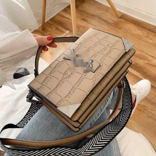 JT80290-khaki Tas Handbag Selempang Import Wanita Cantik Terbaru