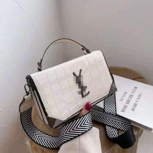 JT80290-white Tas Handbag Selempang Import Wanita Cantik Terbaru