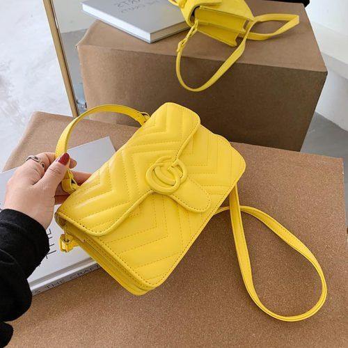 JT8131-yellow Tas Selempang Clutch Wanita Cantik Import