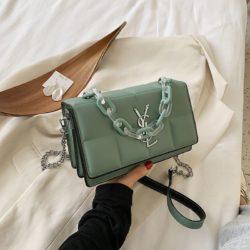 JT8132-green Tas Selempang Fashion Import Wanita Cantik