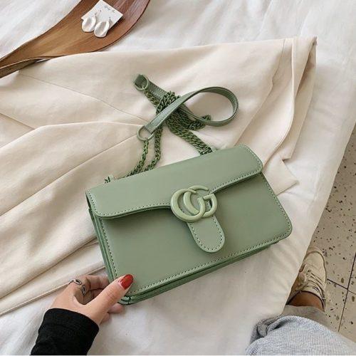 JT8133-green Tas Selempang Fashion Import Elegan Wanita