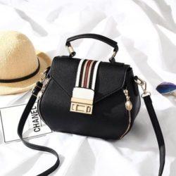 JT81345-black Tas Selempang Fashion Import Wanita Cantik