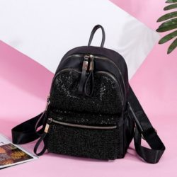 JT813479-blacksequin Tas Ransel Stylish Wanita Cantik Import Terbaru