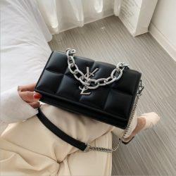 JT8136-black Tas Selempang Rantai Wanita Elegan Import