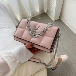 JT8136-pink Tas Selempang Rantai Wanita Elegan Import