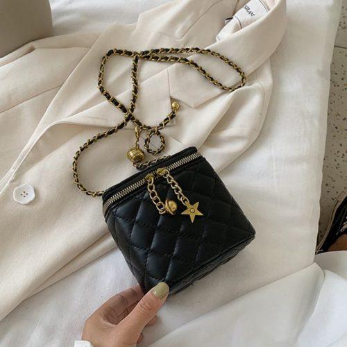 JT8149-black Tas Selempang Kosmetik Multi Fungsi Wanita Cantik
