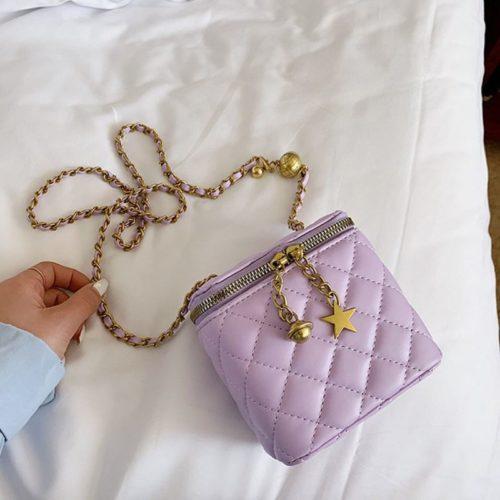 JT8149-purple Tas Selempang Kosmetik Multi Fungsi Wanita Cantik