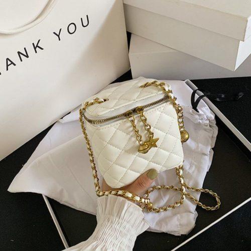 JT8149-white Tas Selempang Kosmetik Multi Fungsi Wanita Cantik