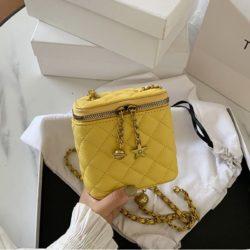 JT8149-yellow Tas Selempang Kosmetik Multi Fungsi Wanita Cantik
