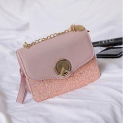 JT8277-pink Tas Clutch Selempang Elegan Wanita Cantik