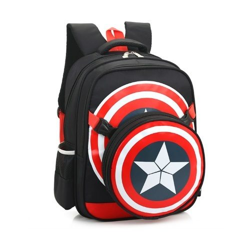 JT8315-black Tas Ransel Anak Captain America Import