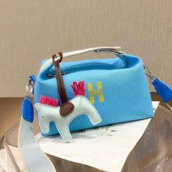 JT8344-lightblue Doctor Bag Wanita Fashion Elegan Gantungan Pony