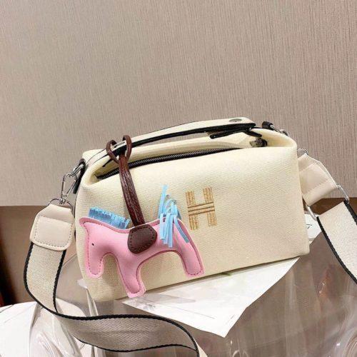 JT8344-white Doctor Bag Wanita Fashion Elegan Gantungan Pony