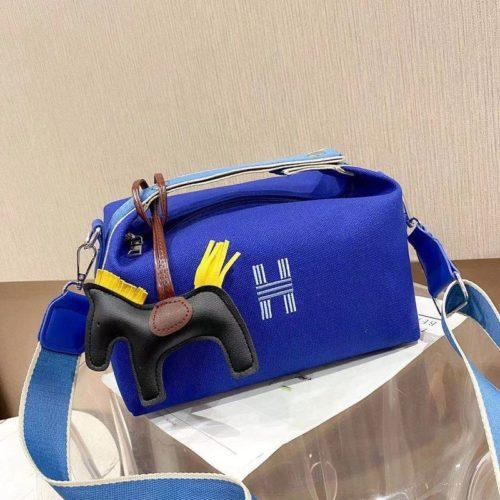 JT8344-darkblue Doctor Bag Wanita Fashion Elegan Gantungan Pony