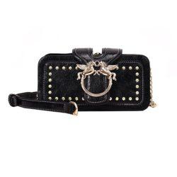 JT8365-black Clutch Bag Elegan Import Wanita Cantik