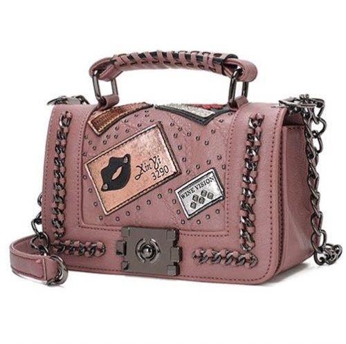 JT839501-pink Tas Selempang Handbag Import Wanita