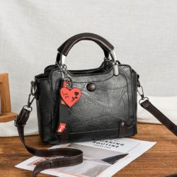 JT8452-black Tas Handbag Selempang Elegan Wanita Cantik