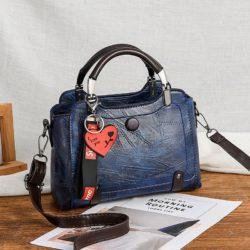 JT8452-blue Tas Handbag Selempang Elegan Wanita Cantik
