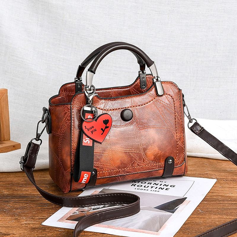 JT8452-brown Tas Handbag Selempang Elegan Wanita Cantik