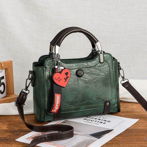 JT8452-green Tas Handbag Selempang Elegan Wanita Cantik