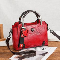 JT8452-red Tas Handbag Selempang Elegan Wanita Cantik