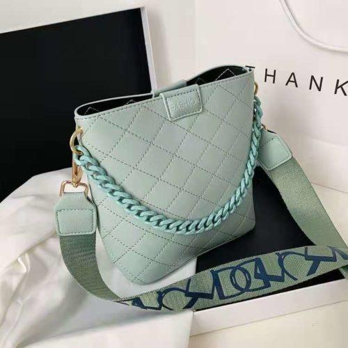JT8460-green Tas Selempang Fashion Wanita Cantik Terbaru