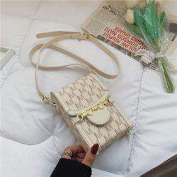 JT84601-beige Dompet HP Selempang Import Wanita Elegan Terbaru