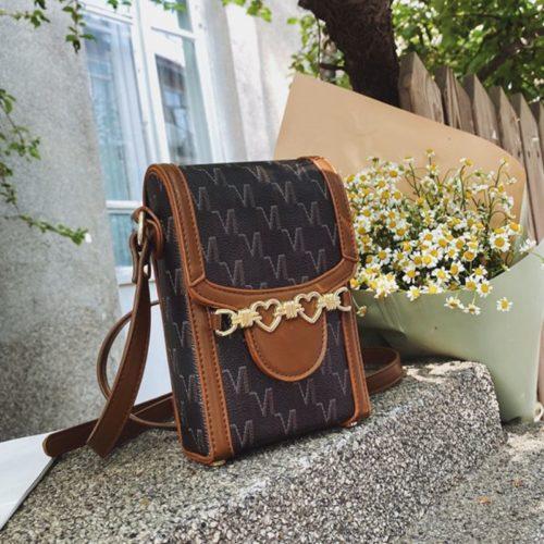 JT84601-brown Dompet HP Selempang Import Wanita Elegan Terbaru