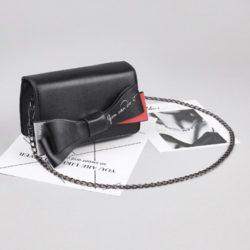 JT8556-black Tas Selempang Ribbon Fashion Wanita Cantik