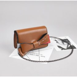 JT8556-brown Tas Selempang Ribbon Fashion Wanita Cantik