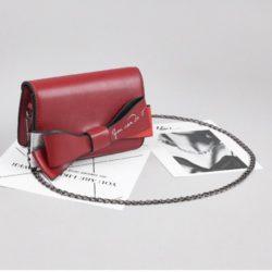 JT8556-red Tas Selempang Ribbon Fashion Wanita Cantik