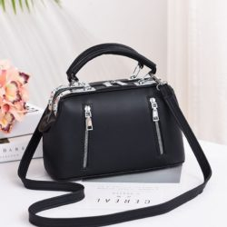 JT8607-black Doctor Bag Cantik Import Kekinian