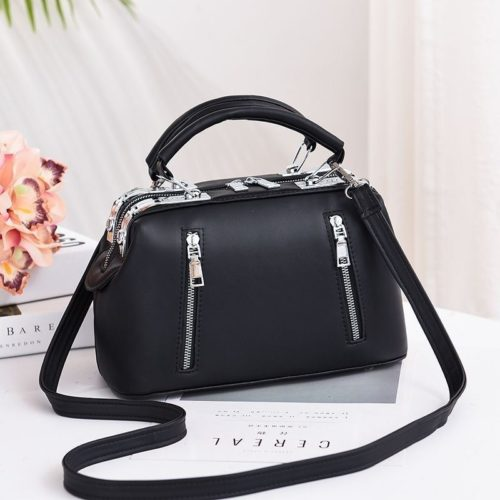JT8607-black Doctor Bag Cantik Import Kekinian