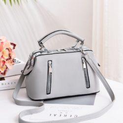 JT8607-gray Doctor Bag Cantik Import Kekinian