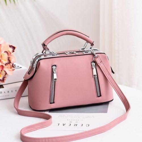 JT8607-pink Doctor Bag Cantik Import Kekinian