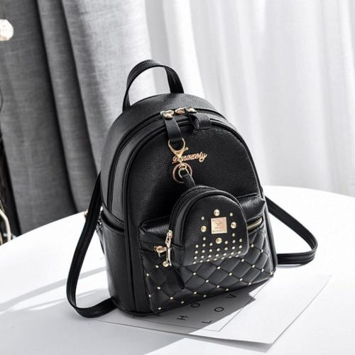 JT8692-black Tas Ransel Stylish 2in1 Wanita Cantik Import