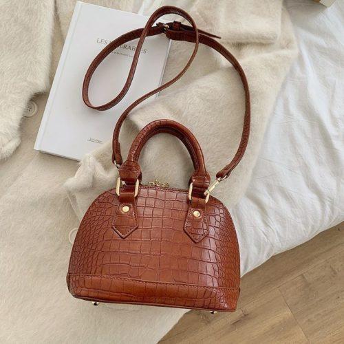 JT8699-brown Tas Handbag Selempang Wanita Elegan Import
