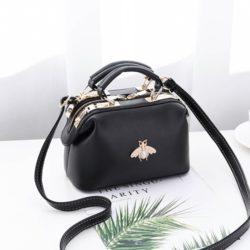 JT8805-black Doctor Bag Fashion Elegan Wanita