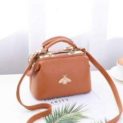 JT8805-brown Doctor Bag Fashion Elegan Wanita