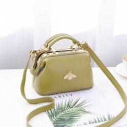 JT8805-green Doctor Bag Fashion Elegan Wanita