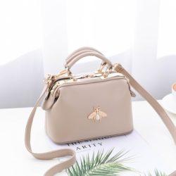 JT8805-khaki Doctor Bag Fashion Elegan Wanita