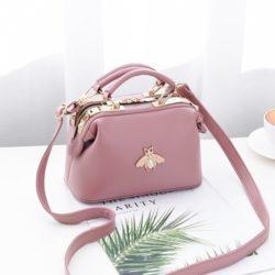 JT8805-pink Doctor Bag Fashion Elegan Wanita