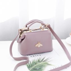 JT8805-purple Doctor Bag Fashion Elegan Wanita