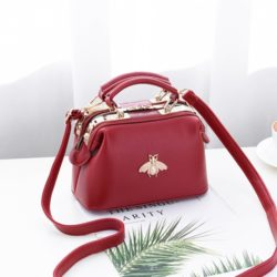 JT8805-red Doctor Bag Fashion Elegan Wanita