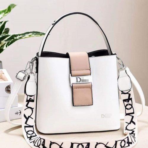JT88073-white Tas Selempang Import Wanita Cantik Elegan