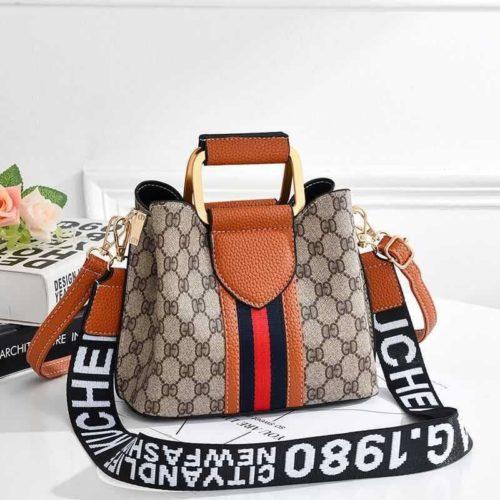 JT88216-brown Tas Selempang Wanita Elegan Kuchen & Bag Terbaru