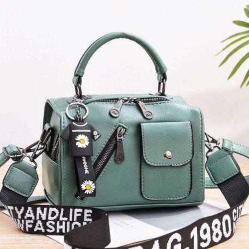 JT8856-green Tas Selempang Fashion Wanita Cantik Terbaru
