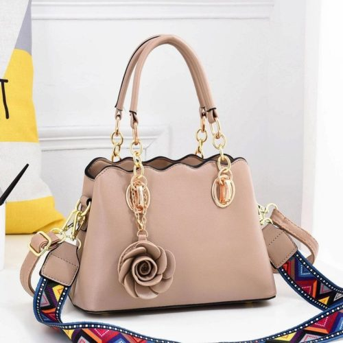 JT886-khaki Tas Handbag Wanita Elegan Gantungan Rose (2 Tali Panjang)